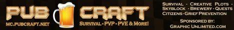 Banner for PubCraft server