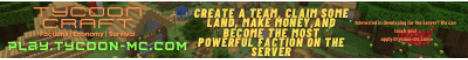 Banner for Tycoon Craft server