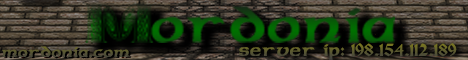 Banner for Mordonia RP/Towny/PvP/Mcmmo/Mythicdrops Minecraft server