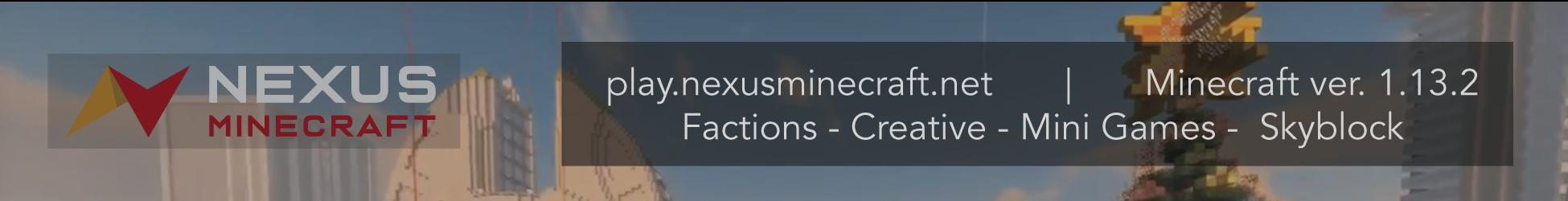 Banner for Nexus Minecraft Minecraft server