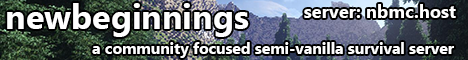 Banner for New Beginnings Minecraft Minecraft server