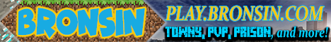 Banner for Bronsin City Minecraft server