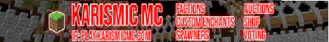 Banner for Karismic MC Minecraft server