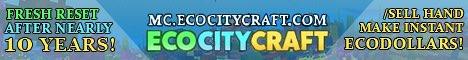 Banner for EcoCityCraft Economy server