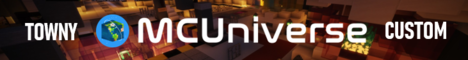 Banner for MCUniverse - The Ultimate Minecraft Space Adventure server