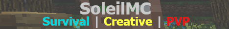 Banner for Soleil Minecraft server