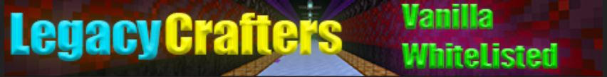 Banner for Legacy Crafters Minecraft server