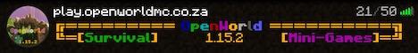 Banner for OpenWorld server