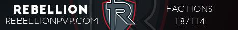 Banner for RebellionPvp server