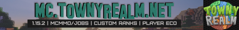 Banner for TownyRealm 1.15.2 Minecraft server
