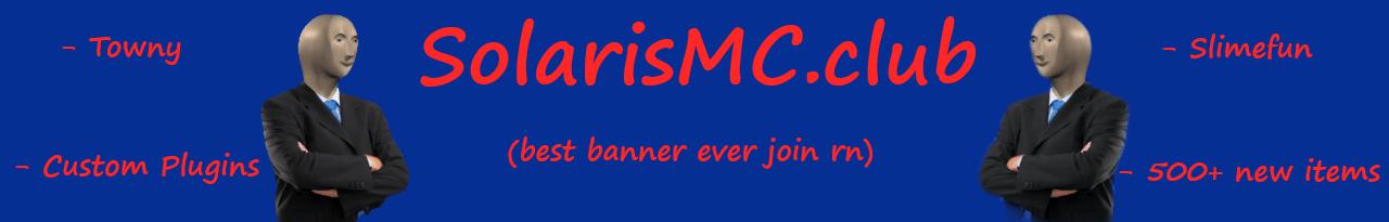 Banner for SolarisMC server