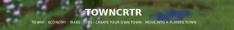 Banner for TownCRTR server