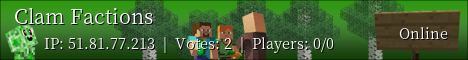 Banner for Clam Factions server