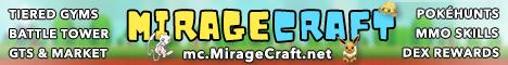 Banner for MirageCraft Pixelmon Reforged server